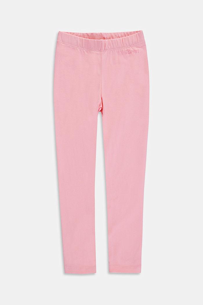 Basic stretch cotton leggings, LIGHT PINK, detail image number 0