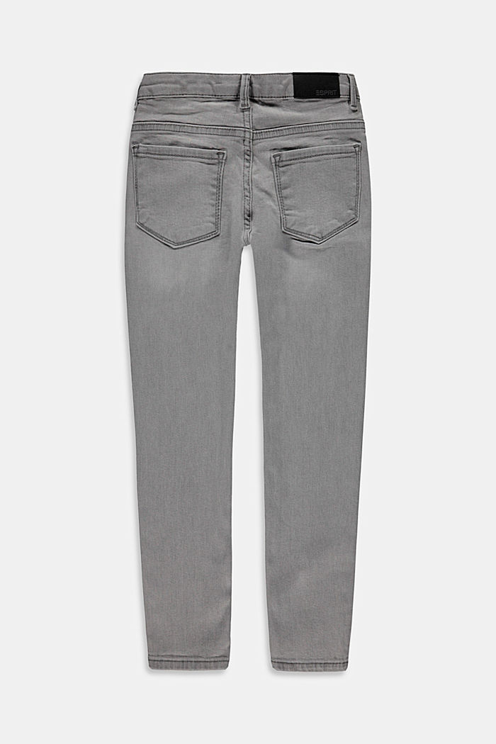 Jeans made of organic cotton, GREY MEDIUM WASHED, detail image number 1