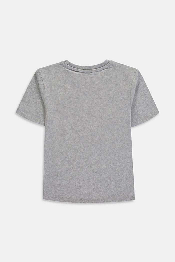Camiseta con logotipo en 100 % algodón, MEDIUM GREY, detail image number 1