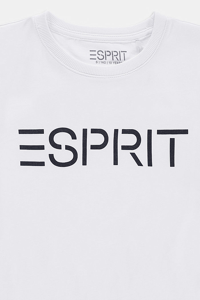 Logo T-shirt in 100% cotton, WHITE, detail image number 1