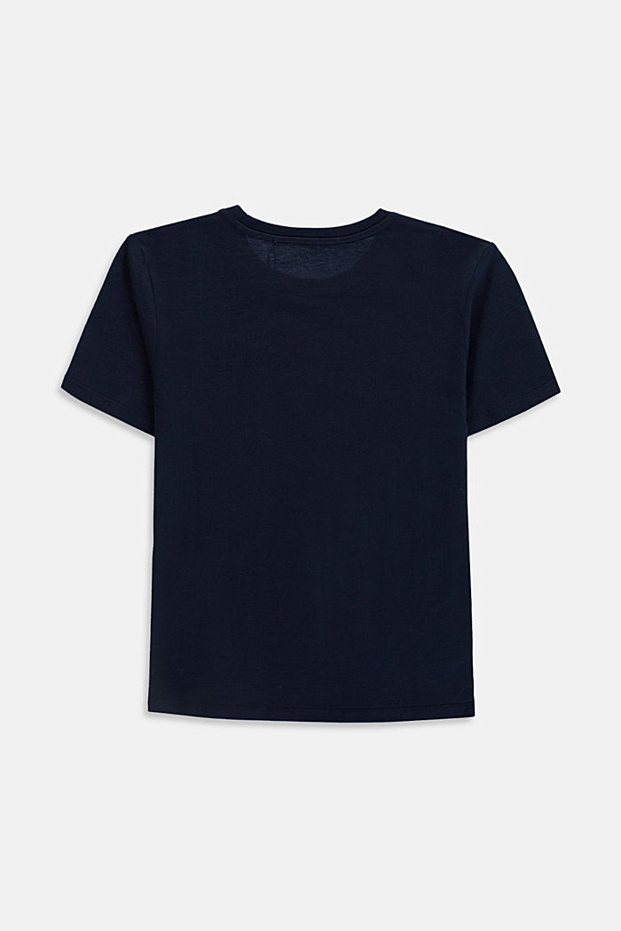 Logo T-shirt in 100% cotton, NAVY, detail image number 1