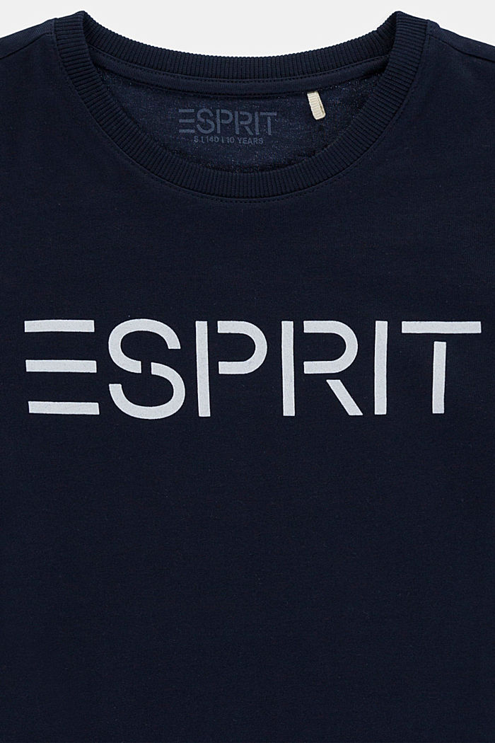 Logo T-shirt in 100% cotton, NAVY, detail image number 2