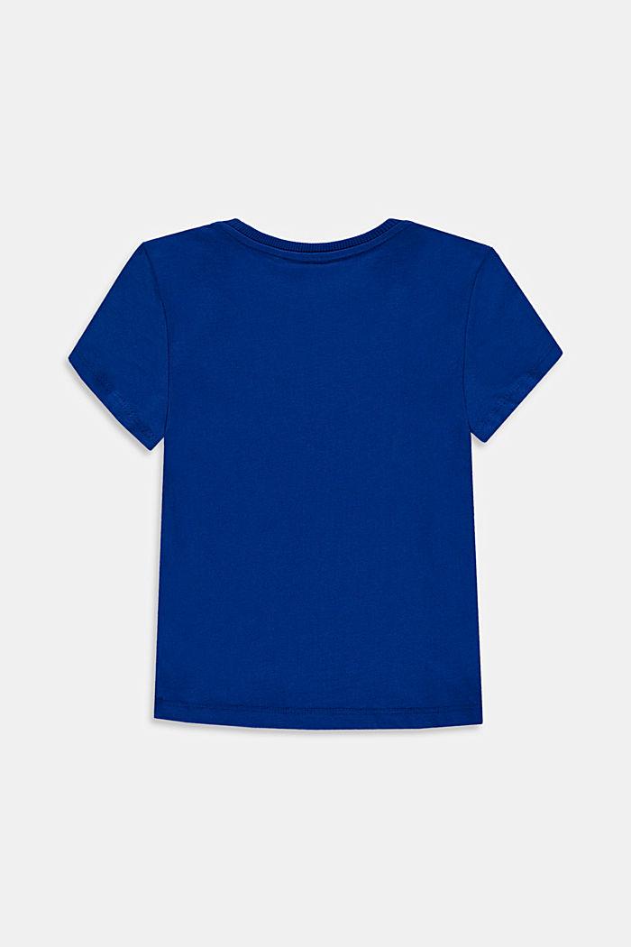 T-shirt van 100% katoen met logo, BRIGHT BLUE, detail image number 1