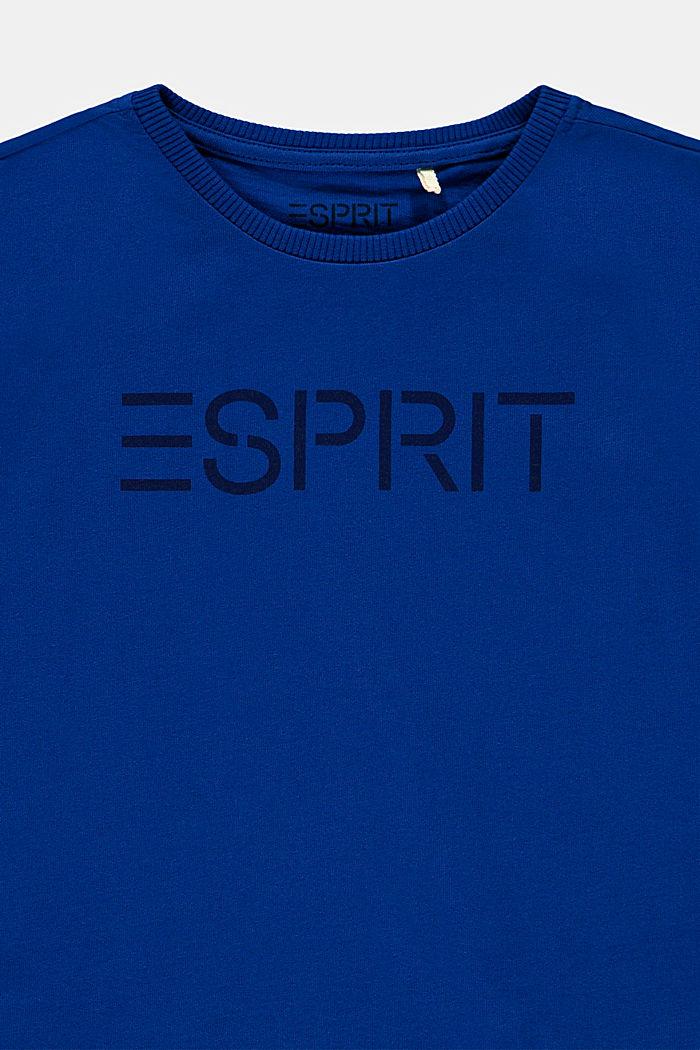 T-shirt van 100% katoen met logo, BRIGHT BLUE, detail image number 2