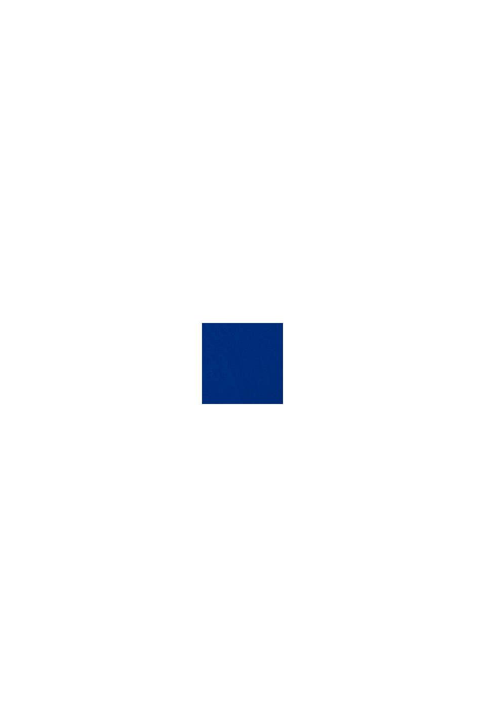 T-shirt van 100% katoen met logo, BRIGHT BLUE, swatch