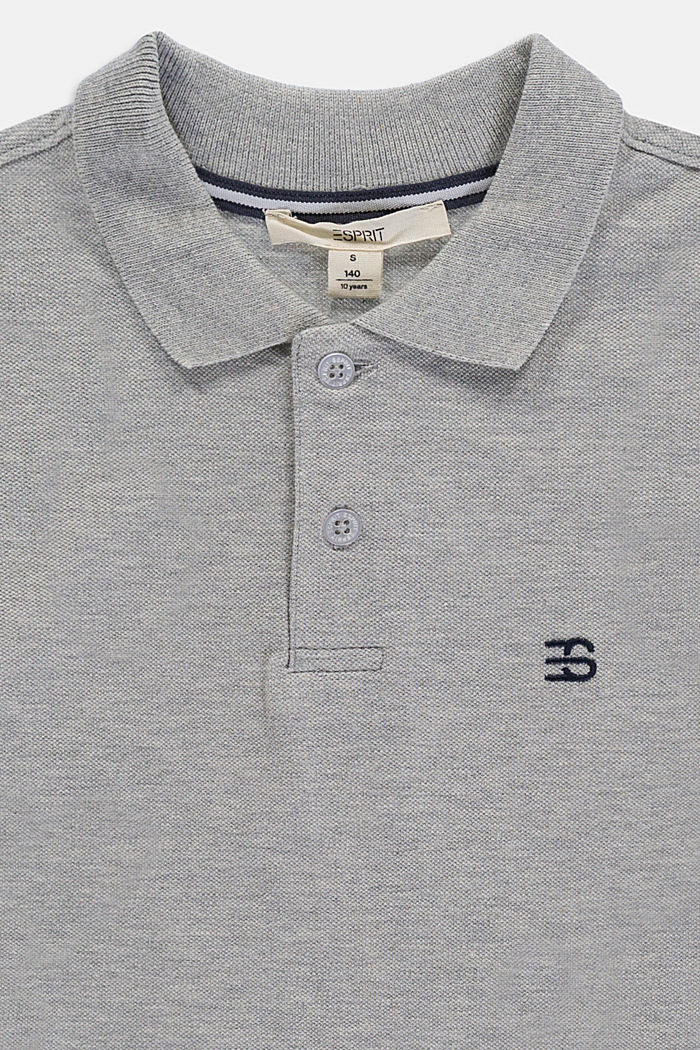 Polo in piqué, 100% cotone, MEDIUM GREY, detail image number 2