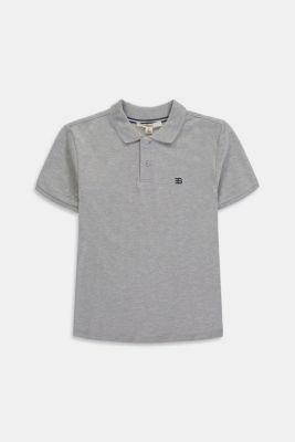 Piqué polo shirt, 100% cotton, MEDIUM GREY, detail
