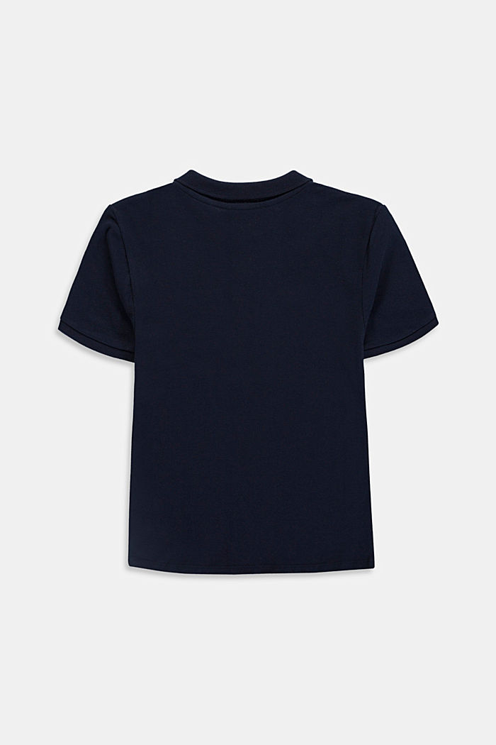 Piqué polo shirt, 100% cotton, NAVY, detail image number 1