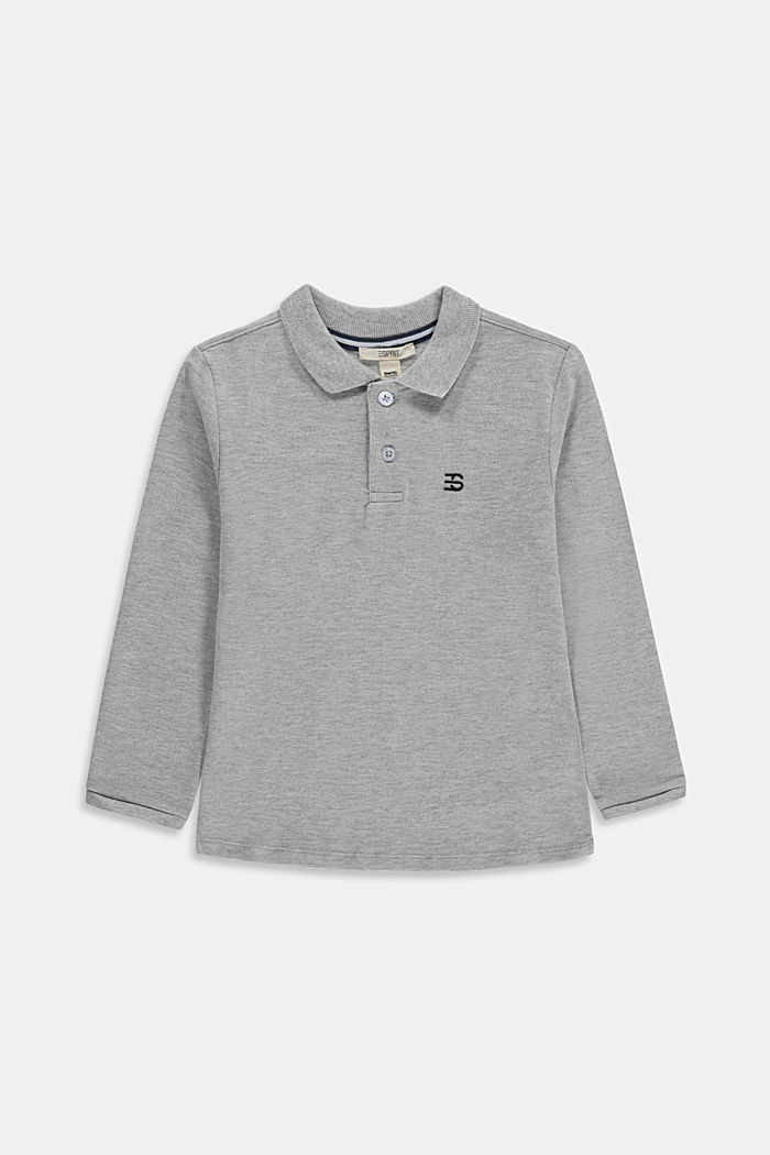 Long sleeved piqué polo shirt, 100% cotton