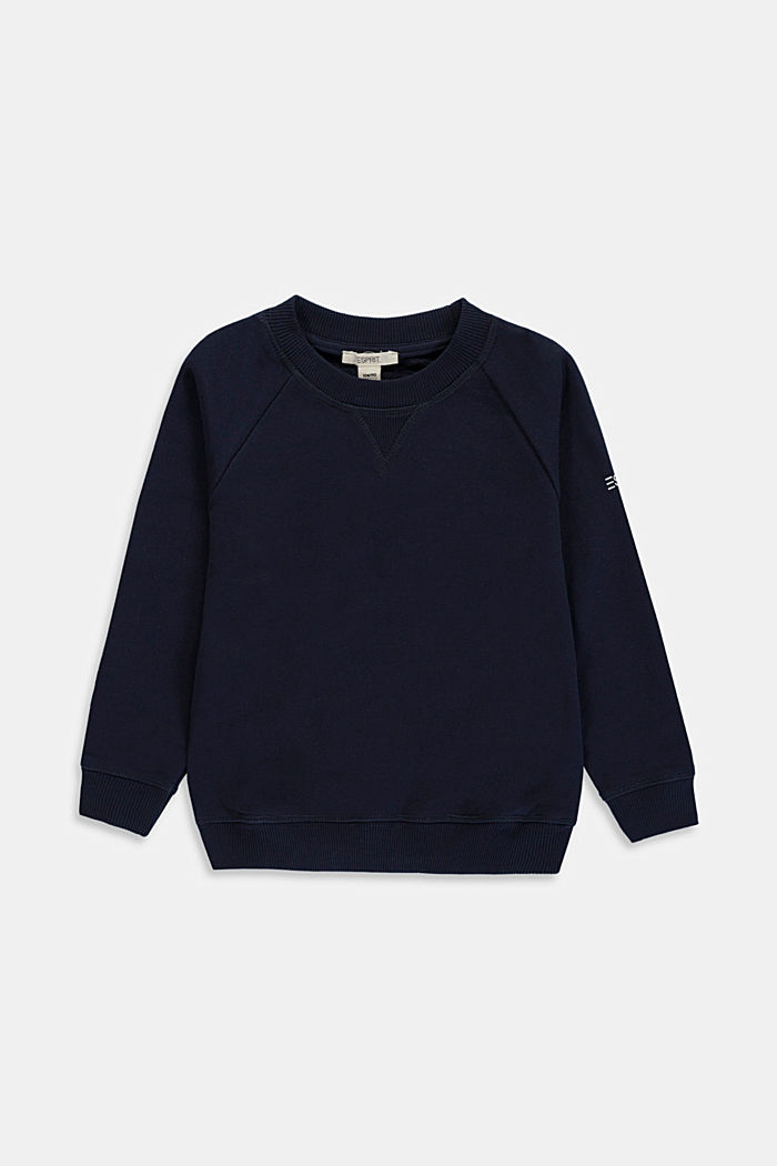 Basic sweatshirt made of 100% cotton, NAVY, overview