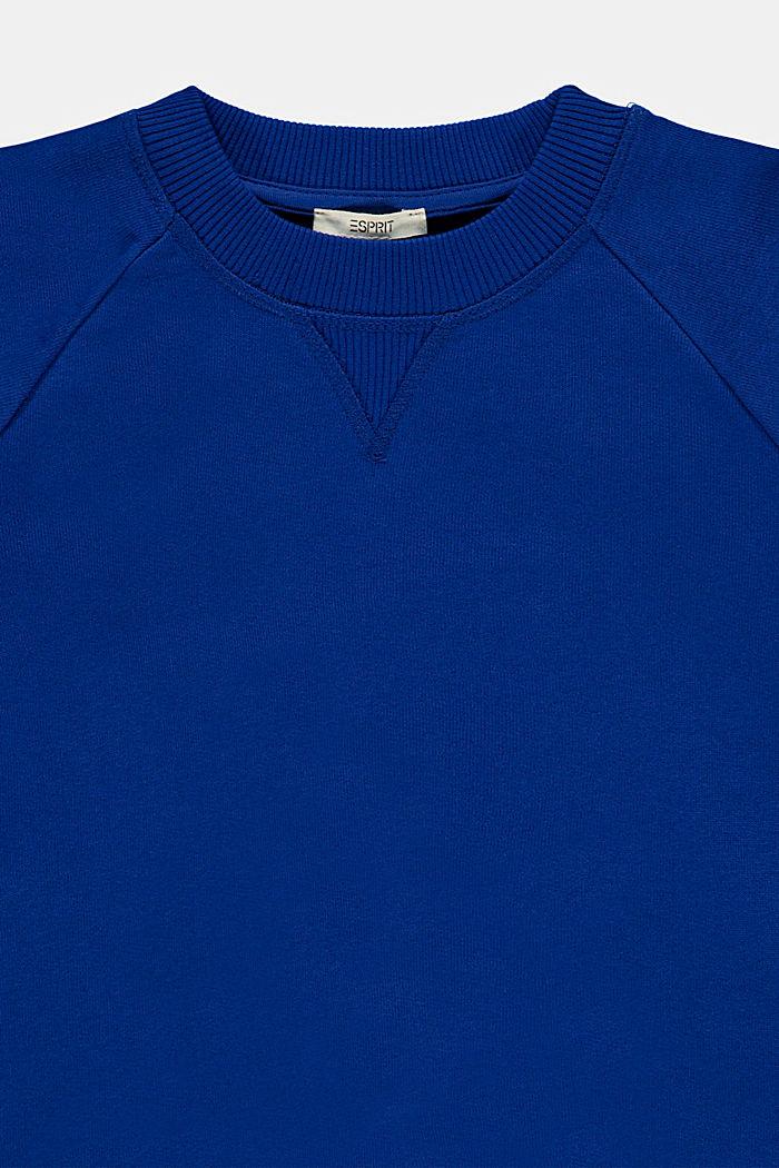 Sweatshirt met logo van 100% katoen, BRIGHT BLUE, detail image number 2