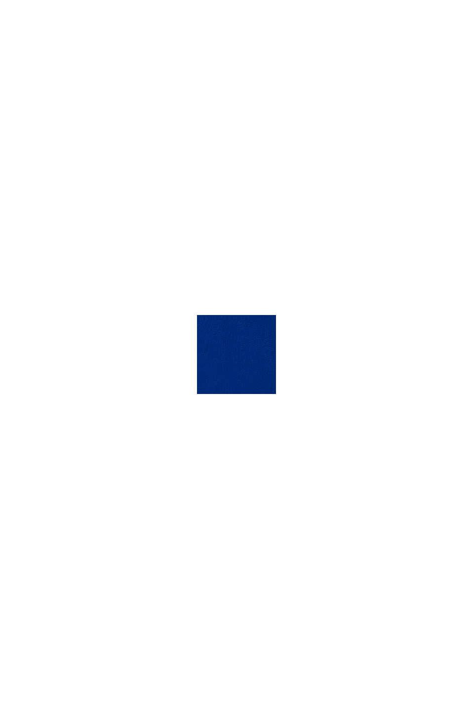 Sweatshirt met logo van 100% katoen, BRIGHT BLUE, swatch