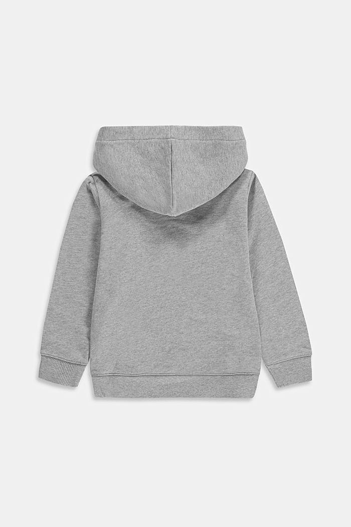 Logo sweatshirt hoodie made of 100% cotton, MEDIUM GREY, detail image number 1