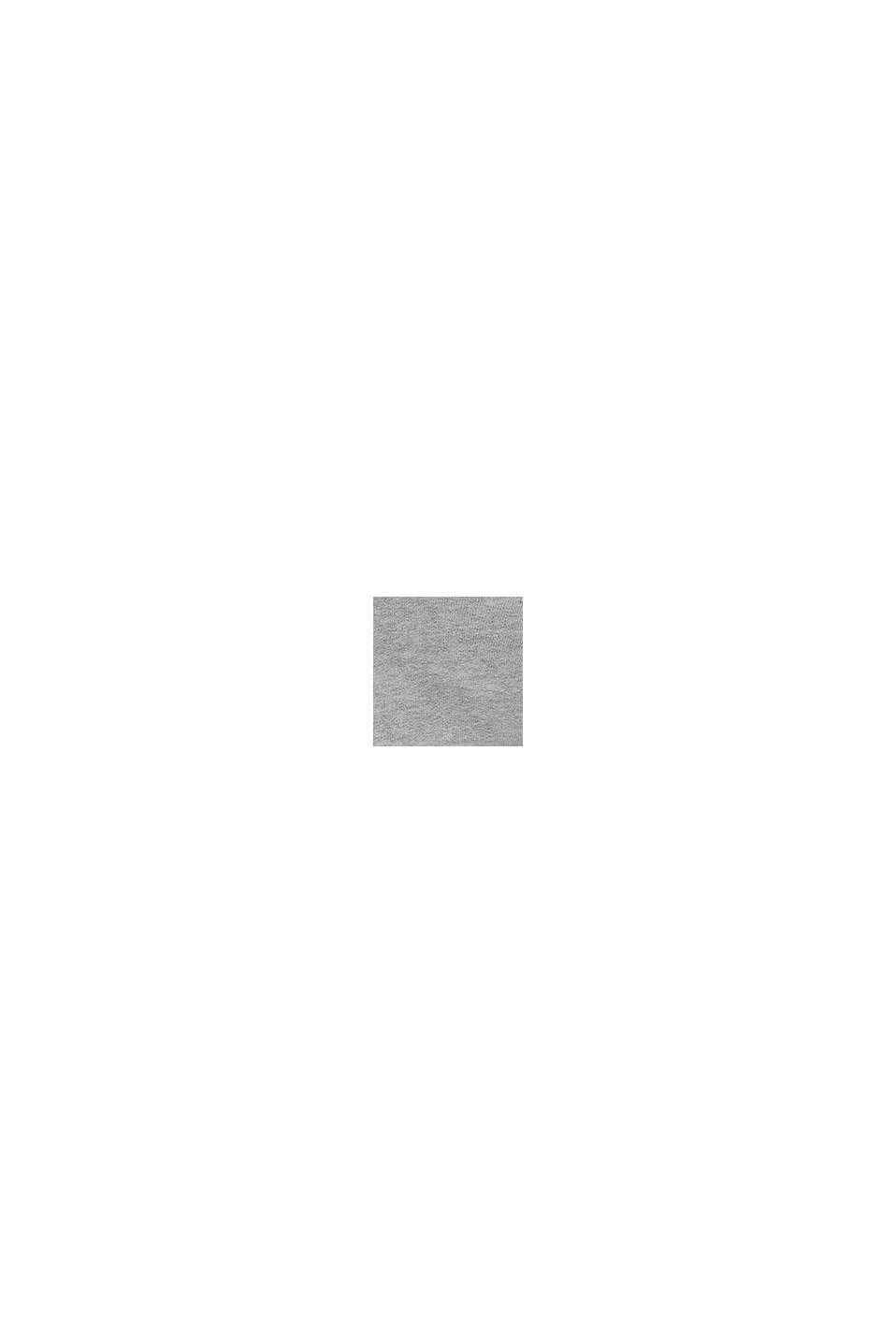 Hoodie met rits en logoprint, 100% katoen, MEDIUM GREY, swatch