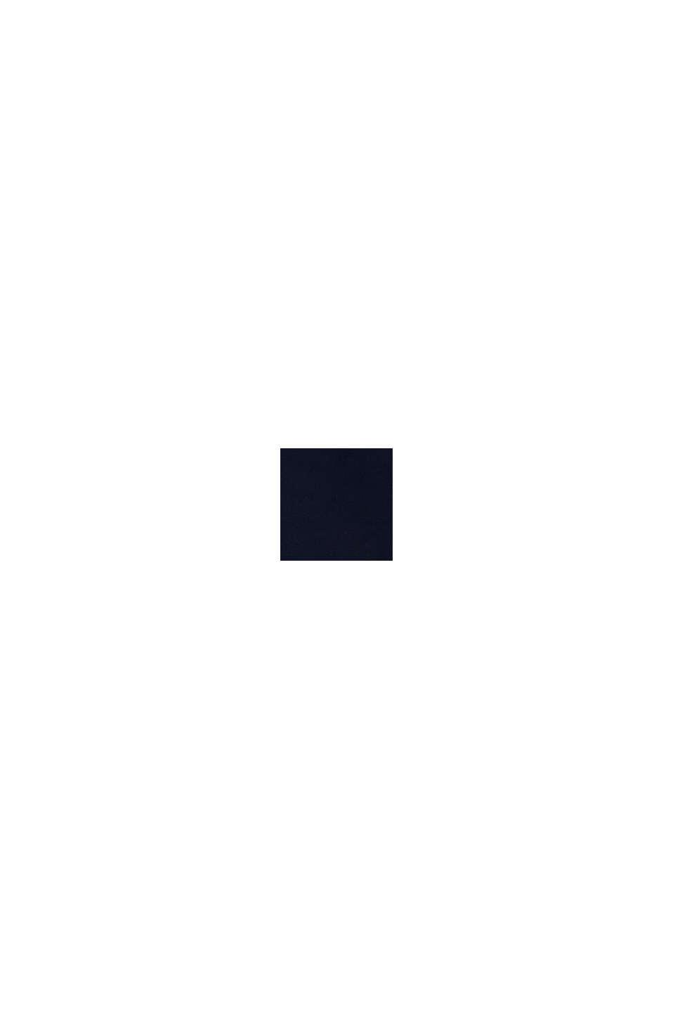 Hoodie met rits en logoprint, 100% katoen, NAVY, swatch