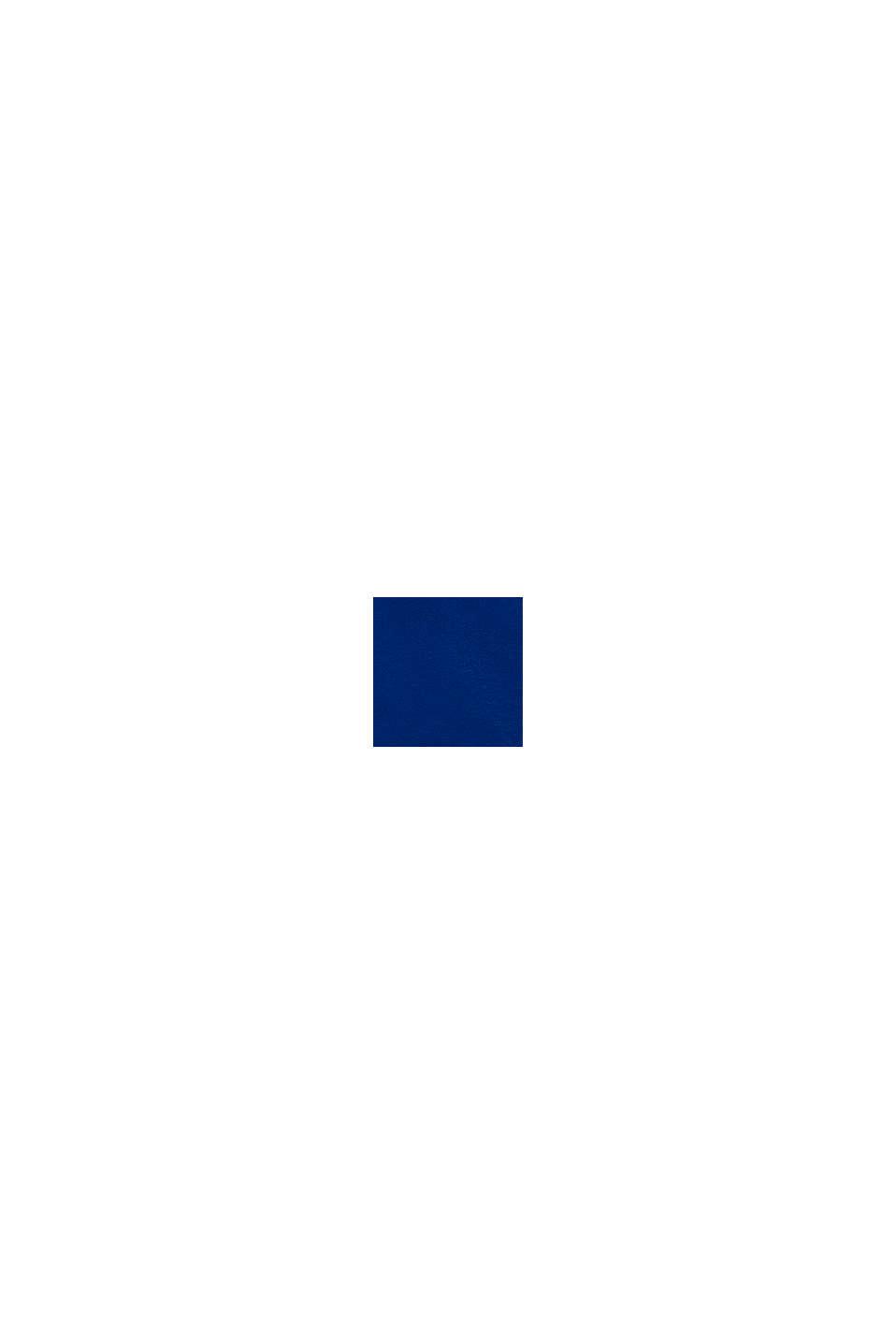 Hoodie met rits en logoprint, 100% katoen, BRIGHT BLUE, swatch