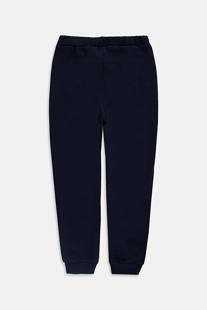 Tracksuit bottoms in 100% cotton, NAVY, detail image number 1