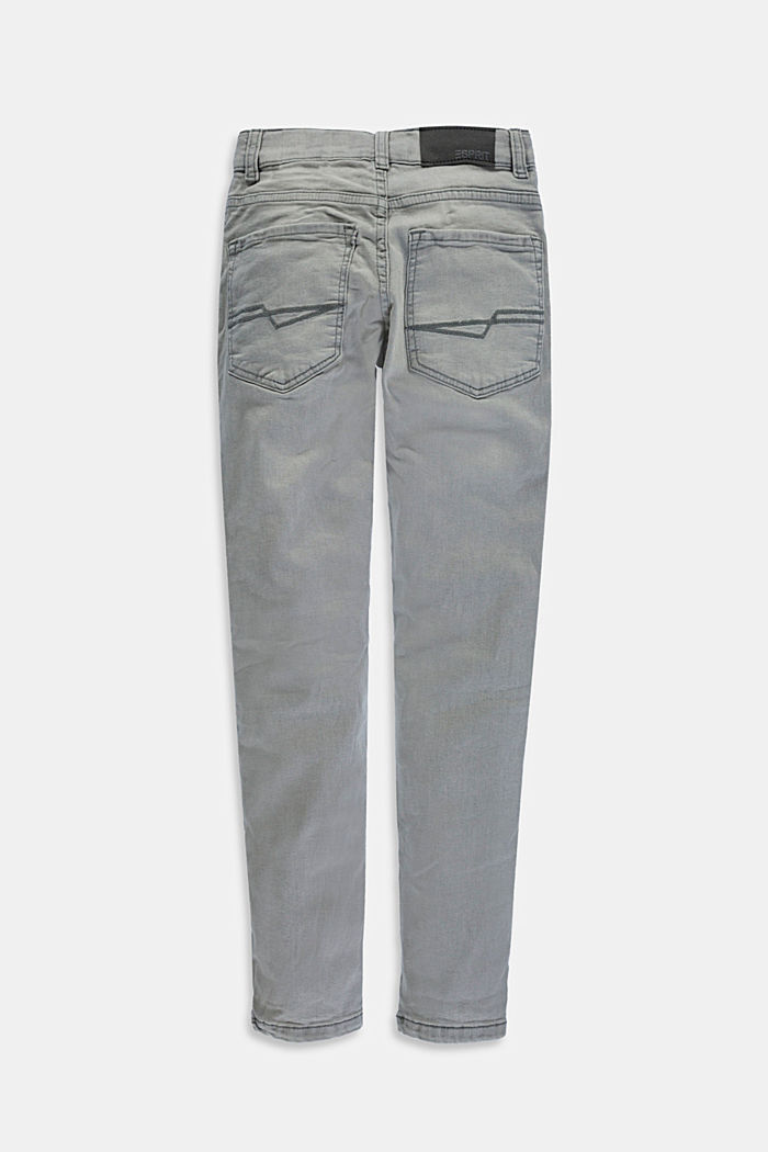 Stretch jeans with an adjustable waist, GREY MEDIUM WASHED, detail image number 1