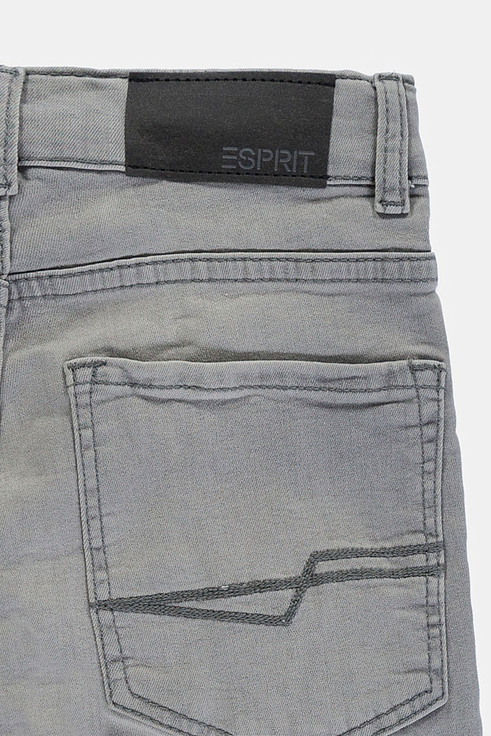 Stretch jeans with an adjustable waist, GREY MEDIUM WASHED, detail image number 2