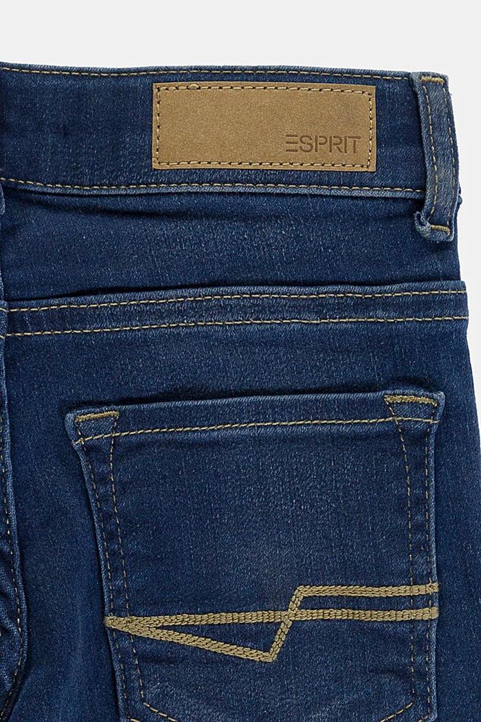 Washed Stretch-Jeans mit Verstellbund, BLUE DARK WASHED, detail image number 2