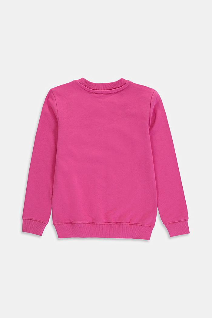 Logo sweatshirt, 100% cotton, PINK, detail image number 1