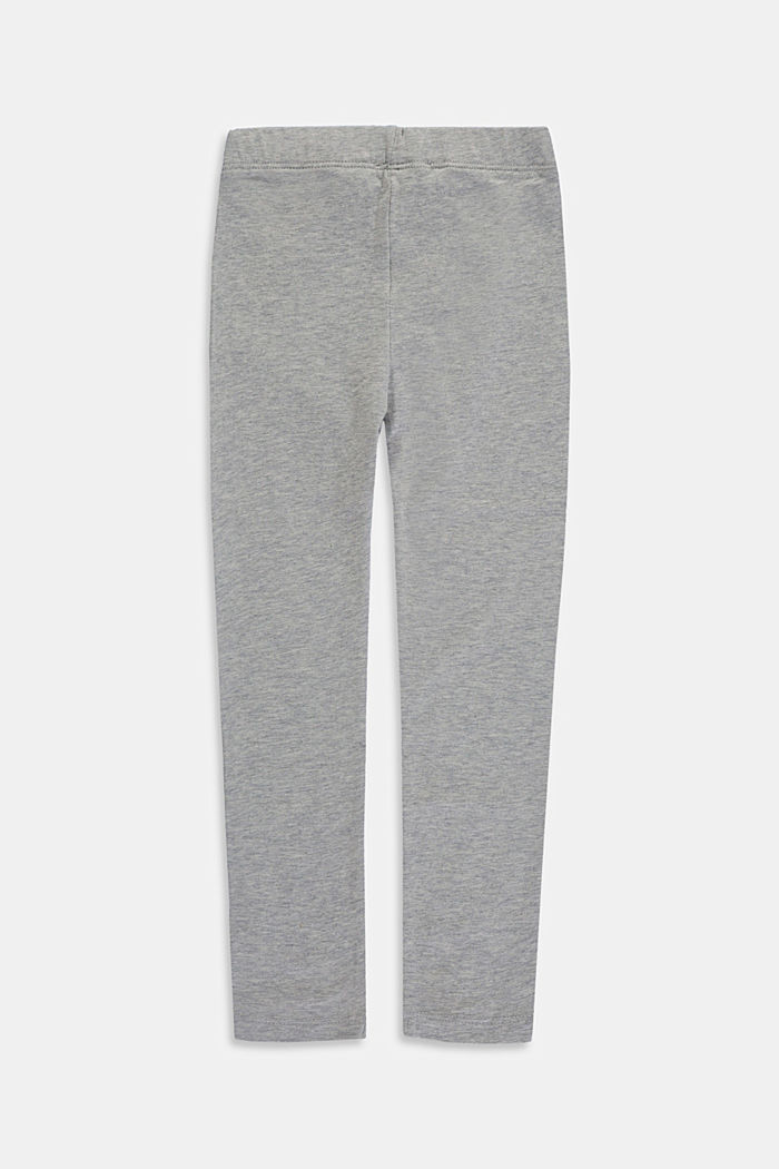 Leggings in cotone stretch, MEDIUM GREY, detail image number 1