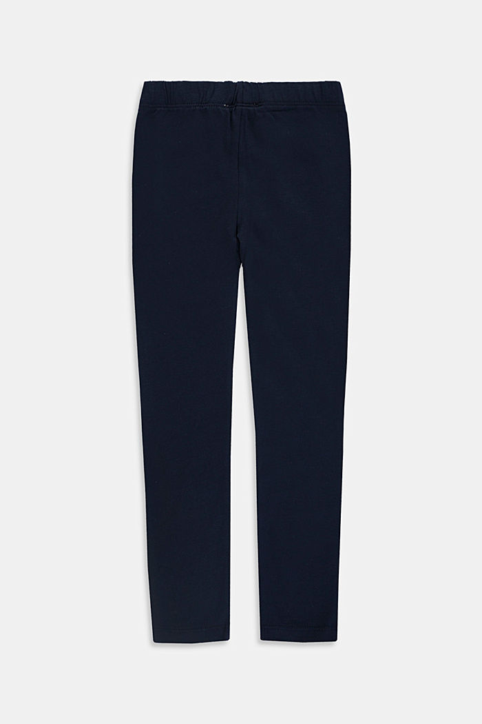 Stretch cotton leggings, NAVY, detail image number 1