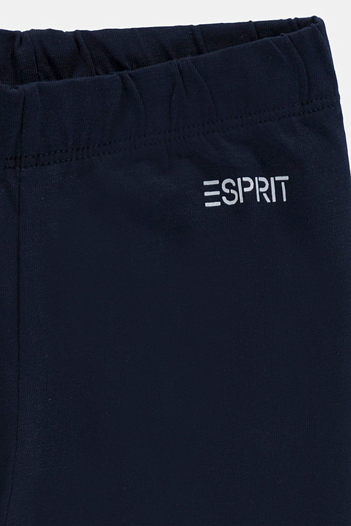 Stretch cotton leggings, NAVY, detail image number 2