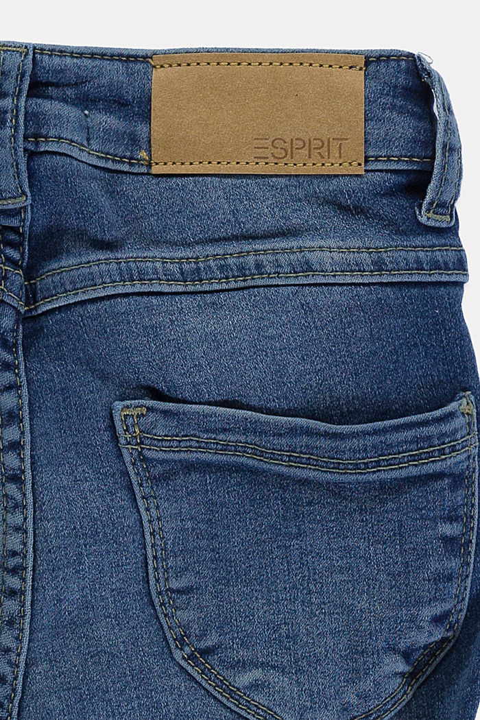 Stretch jeans available in different widths with an adjustable waistband, BLUE MEDIUM WASHED, detail image number 2