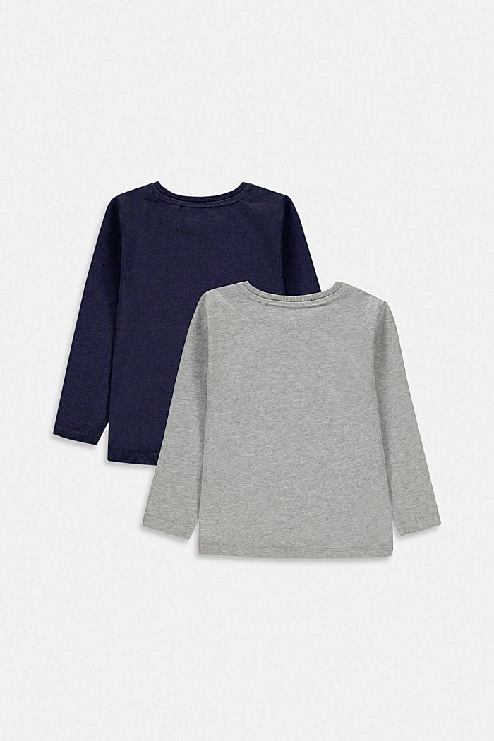 Pack de dos camisetas de manga larga en 100% algodón