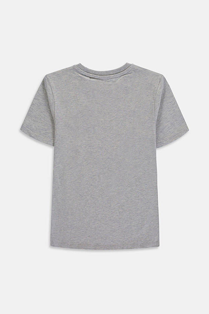 Logo-T-Shirt aus 100% Baumwolle, MEDIUM GREY, detail image number 1