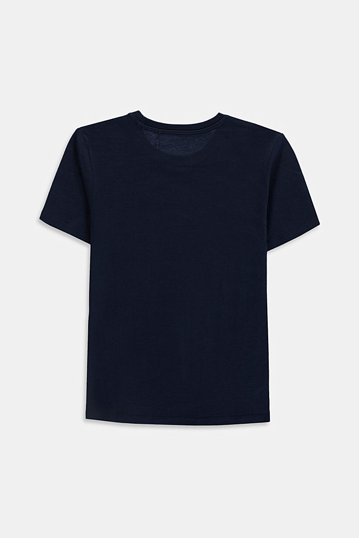 Logo T-shirt, 100% cotton, NAVY, detail image number 1