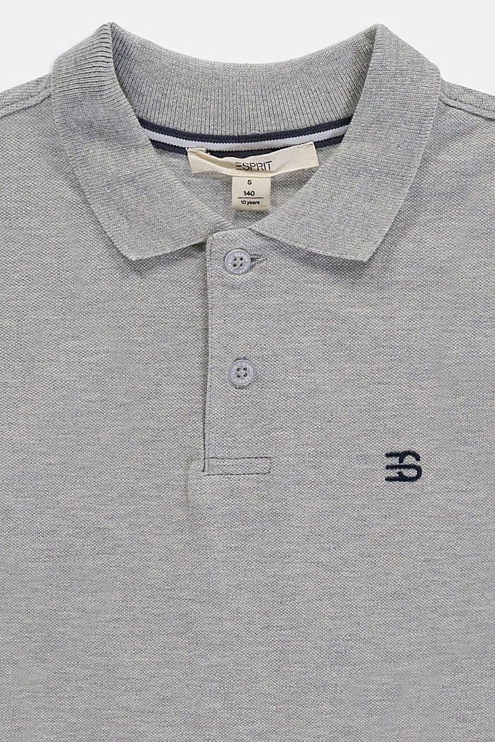 Basic piqué polo shirt made of 100% cotton, MEDIUM GREY, detail image number 2