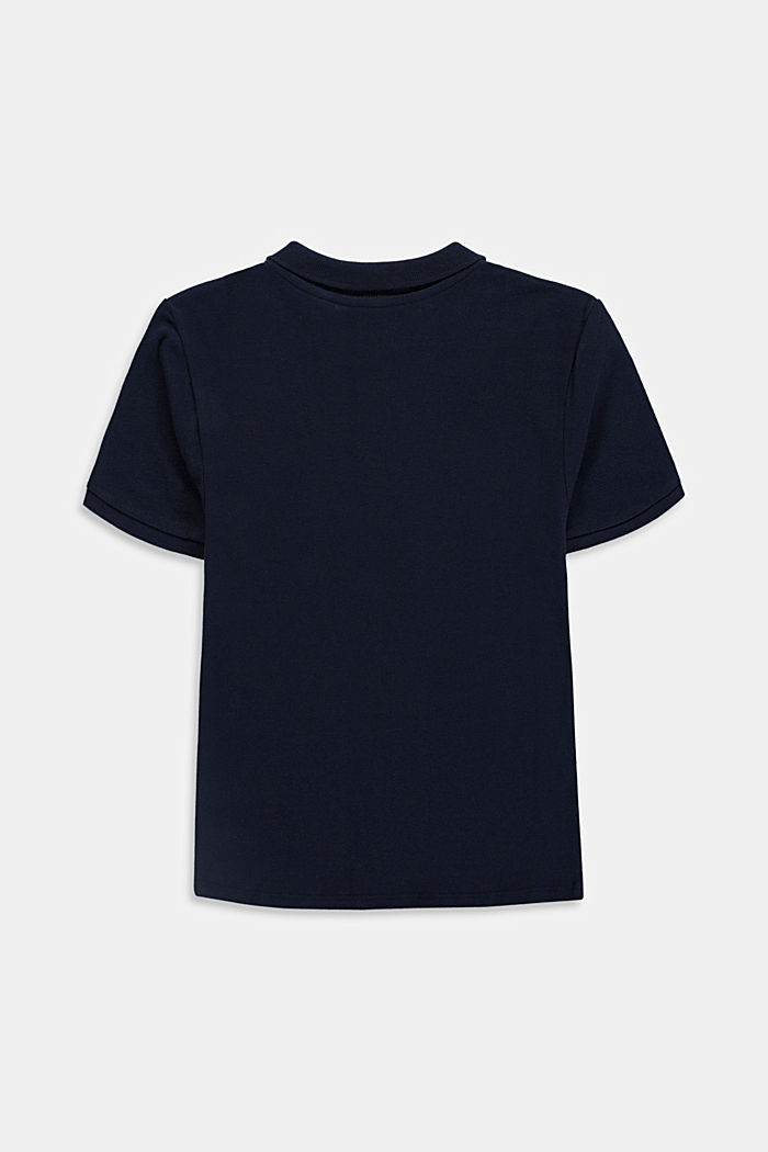 Basic piqué polo shirt made of 100% cotton, NAVY, detail image number 1