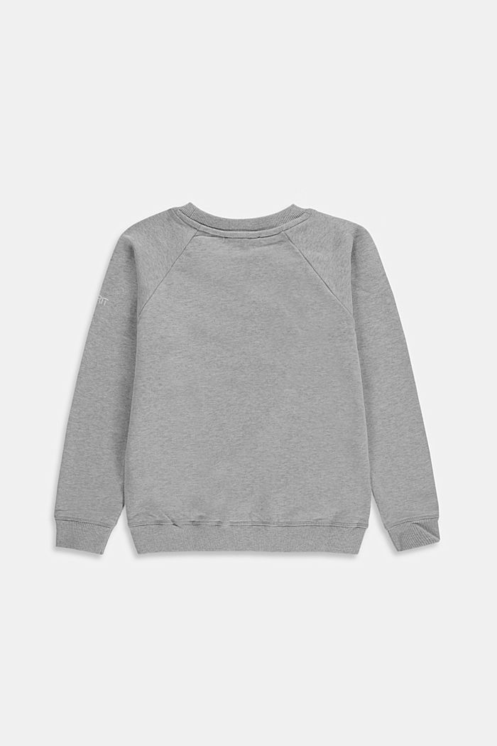 Basic sweatshirt van 100% katoen, MEDIUM GREY, detail image number 1
