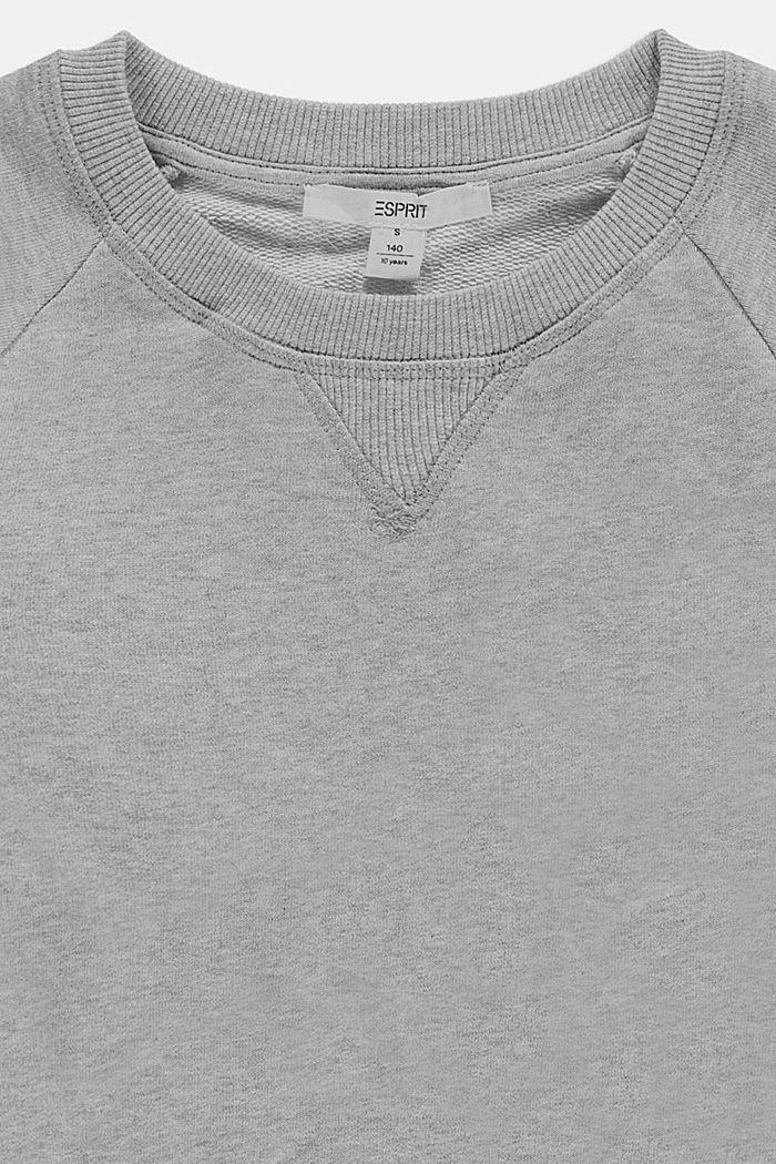 Basic sweatshirt made of 100% cotton, MEDIUM GREY, detail image number 2