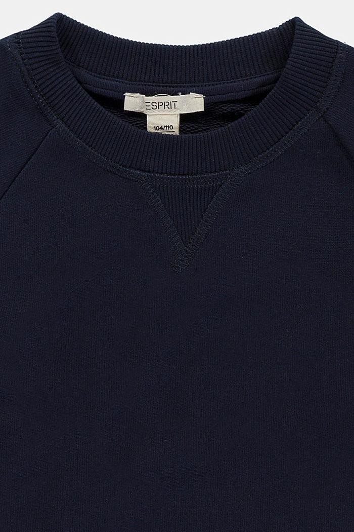Sudadera con logotipo en 100% algodón, NAVY, detail image number 2