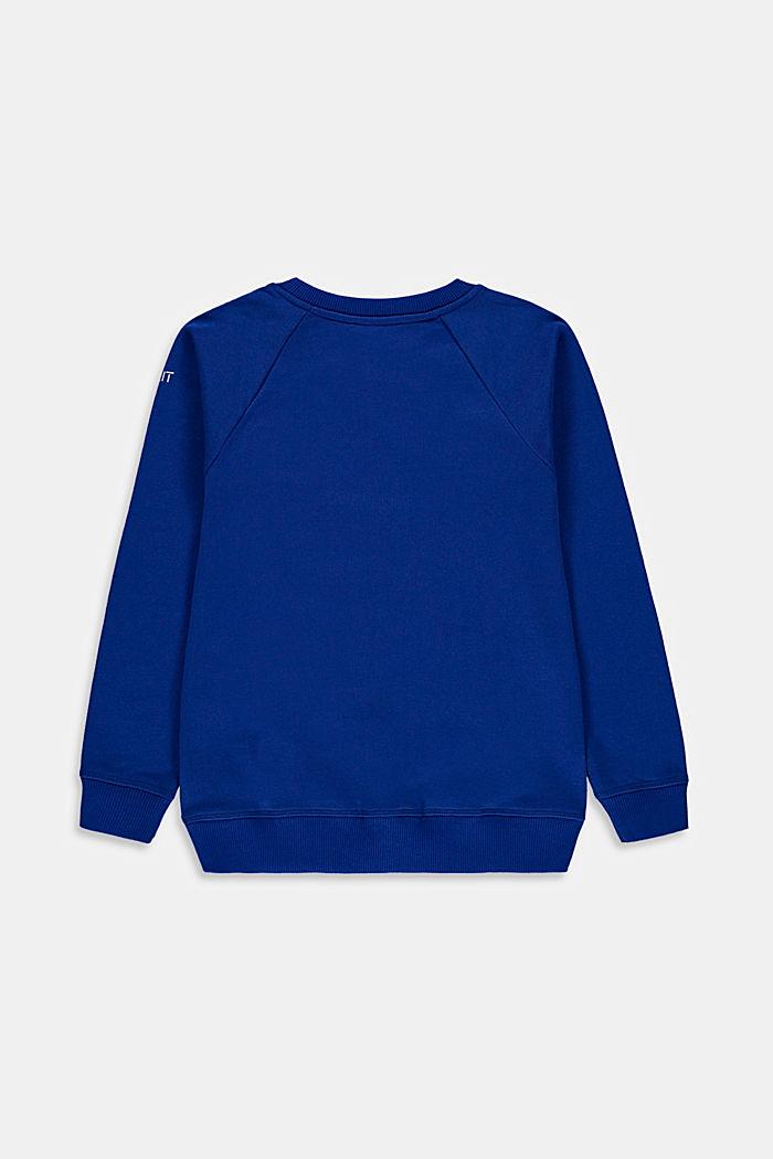 Sweatshirt med logo i 100% bomull