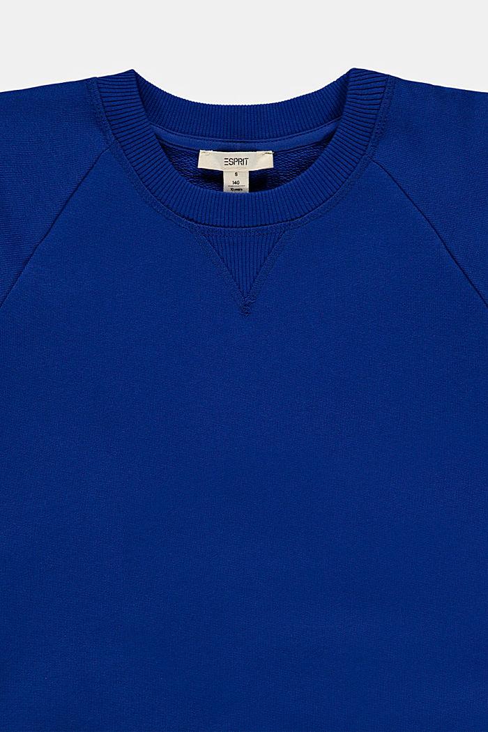 Sweatshirt mit Logo aus 100% Baumwolle, BRIGHT BLUE, detail image number 2