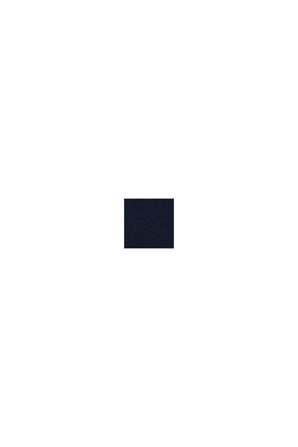 Sudadera con capucha y logotipo en 100% algodón, NAVY, swatch