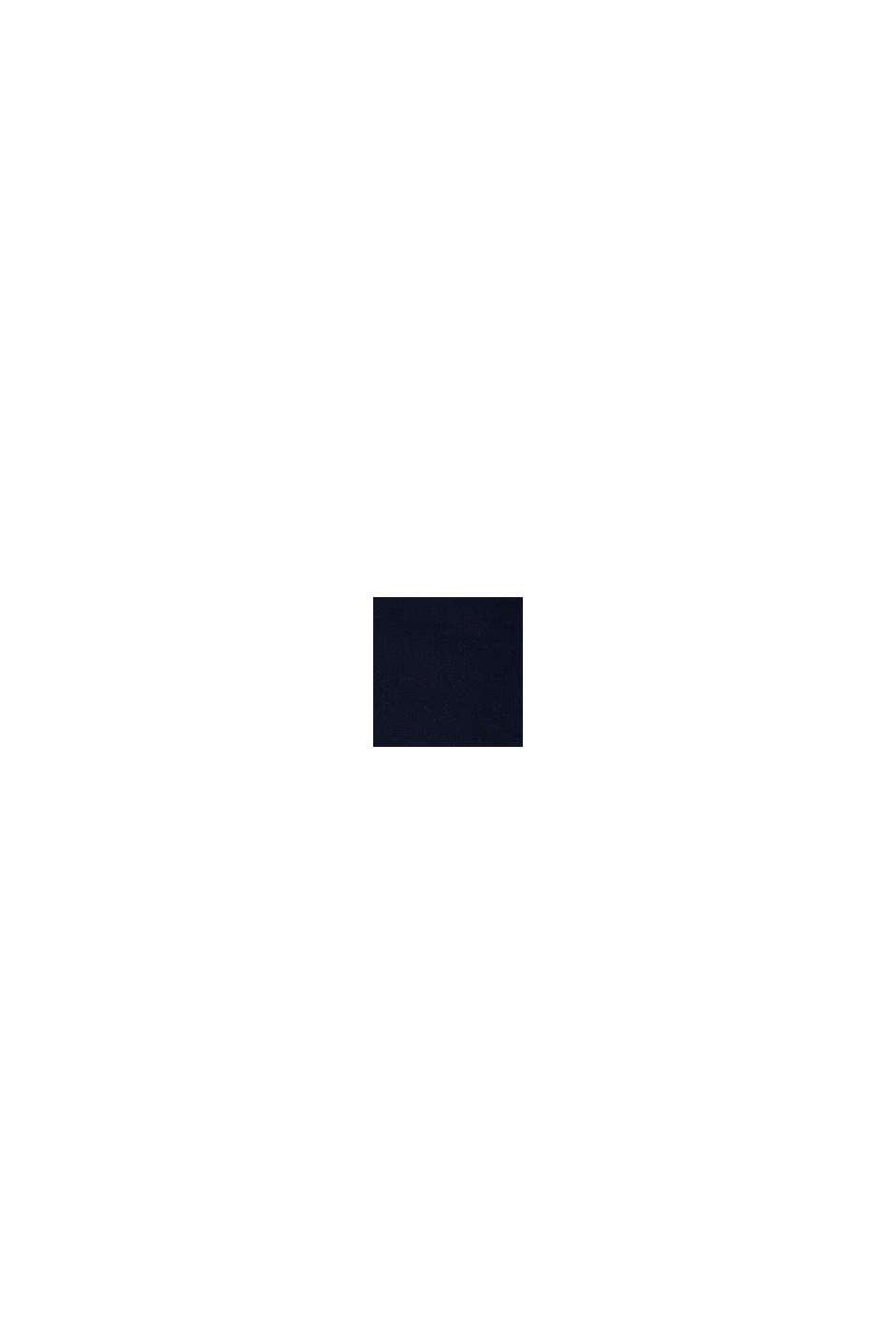 Sudadera de capucha y cremallera con logotipo estampado, 100 % algodón, NAVY, swatch