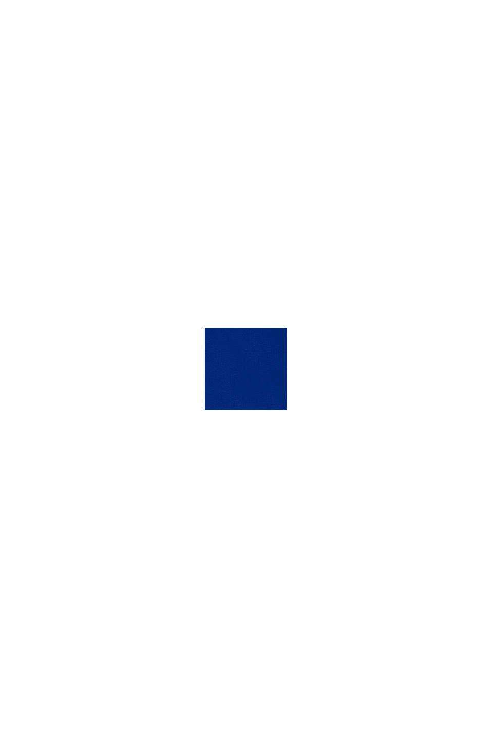 Sudadera de capucha y cremallera con logotipo estampado, 100 % algodón, BRIGHT BLUE, swatch