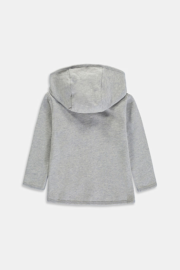 Sweatshirt jacket made of 100% organic cotton, LIGHT GREY, detail image number 1