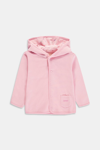 Sweatshirt jacket made of 100% organic cotton