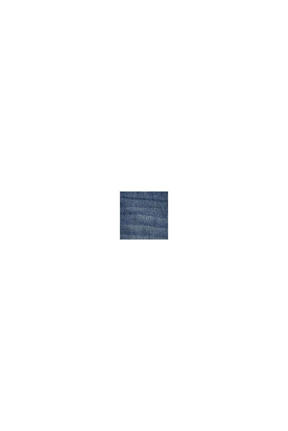 Jean à taille côtelée, 100% coton bio, BLUE MEDIUM WASHED, swatch