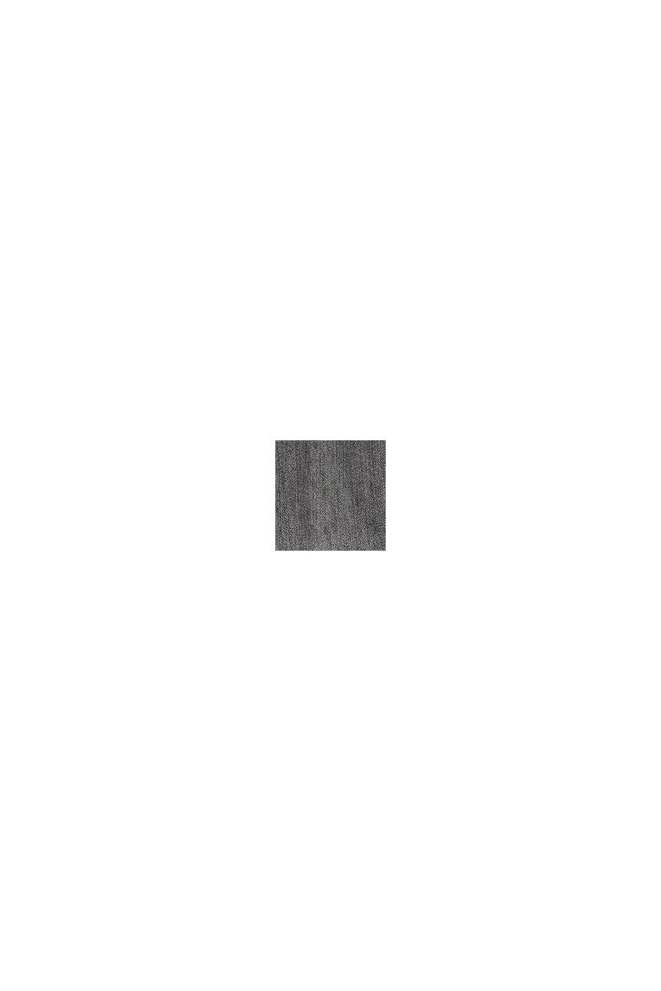 Jean à taille côtelée, 100% coton bio, GREY MEDIUM WASHED, swatch