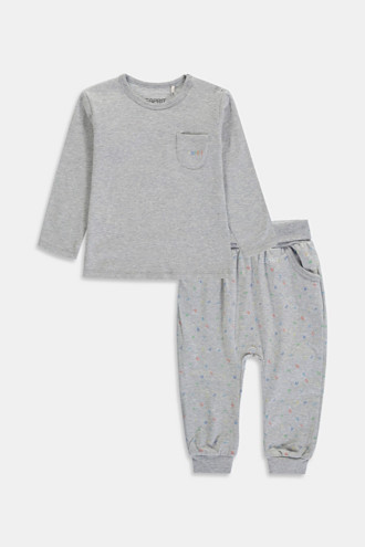 Set: top and trousers, organic cotton