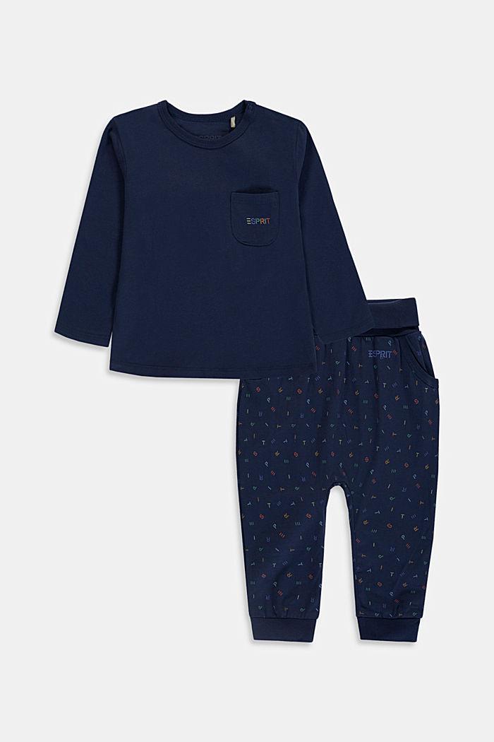 Set: Oberteil und Hose, Bio-Baumwolle, DARK BLUE, detail image number 0