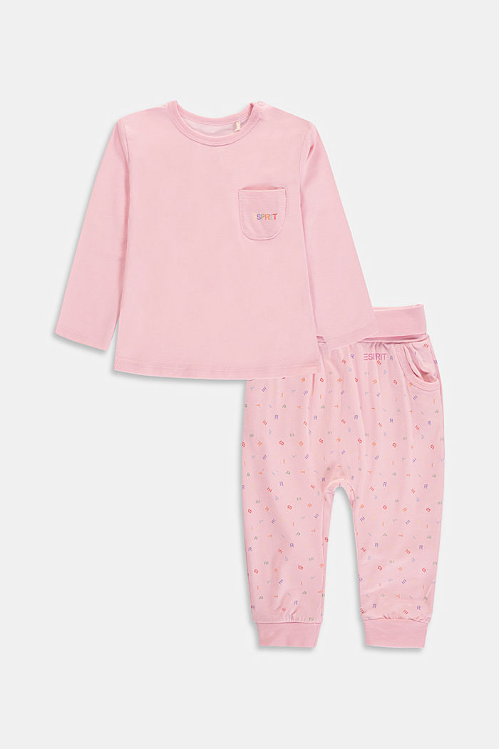 Set: top and trousers, organic cotton, BLUSH, detail image number 0