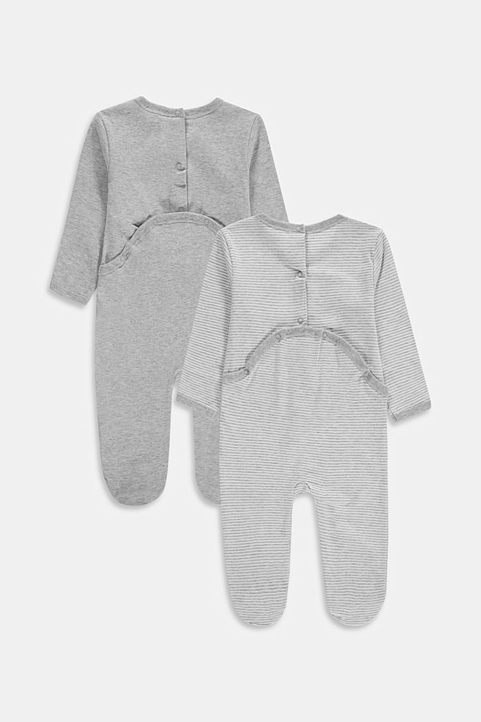2-pack of rompers with organic cotton, LIGHT GREY, detail image number 1